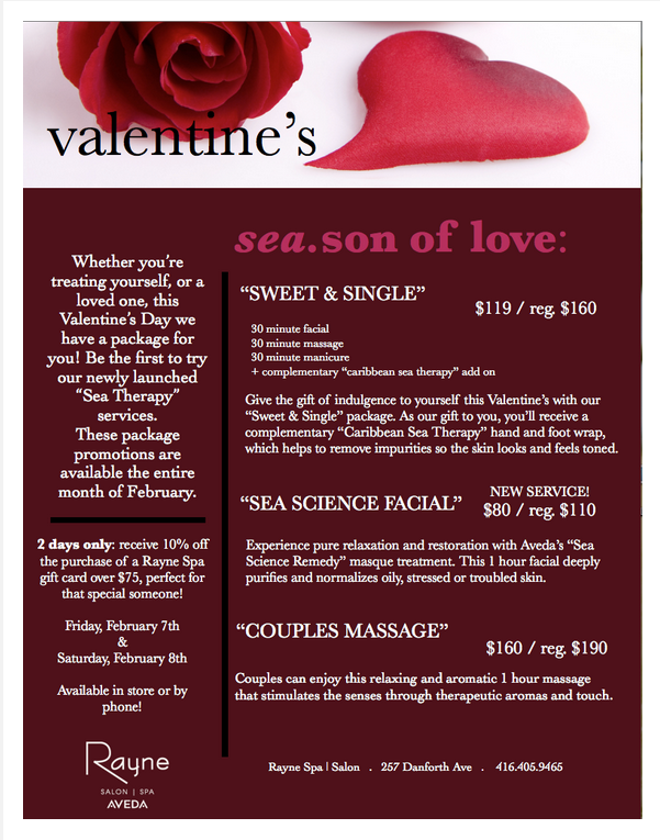 Valentine's at Rayne Spa