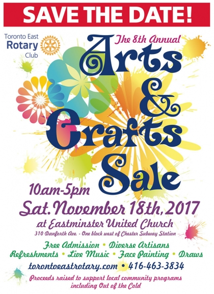 Arts & Crafts Sale Saturday, Nov 18 @ Eastminster United Church